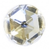 Flatback 14mm Round Crystal Gold Foiled Facetted